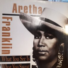 Discos de vinilo: ARETHA FRANKLIN WHAT YOU SEE IS 1991 L.P. Lote 130986780