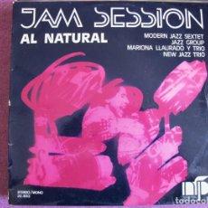Discos de vinilo: LP - JAM SESSION AL NATURAL - VARIOS (SPAIN, NURIA FELIU RECORDS 1974). Lote 130986856