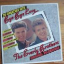 Discos de vinilo: THE EVERLY BROTHERS - BYE BYE LOVE. Lote 130989688