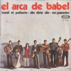 Discos de vinilo: EL ARCA DE BABEL - TENDI EL PAÑUELO + 2 (SINGLE MOVIEPLAY 1969) JOAQUIN DIAZ. Lote 130992024