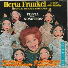 Discos de vinil: HERTA FRANKEL Y SUS MARIONETAS - FIESTA CON NOSOTROS - LA ORQUESTA DE PEPITO - EP 1963. Lote 130992364