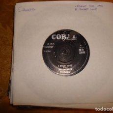 Discos de vinilo: THE CRICKETS. I FOUGHT THE LAW / A SWEET LOVE. CORAL, 1960, EDICION INGLESA.. Lote 130999748