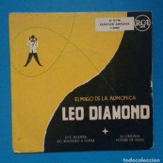 Discos de vinilo: EL MAGO DE LA ARMÓNICA : LEO DIAMOND - EP FABRICADO EN ESPAÑA Y GRABADO EN USA. Lote 131007108