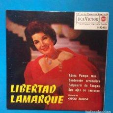 Discos de vinilo: LIBERTAD LAMARQUE - ADIOS PAMPA MIA + 3. Lote 131008056