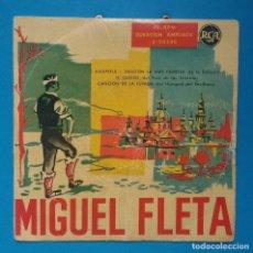 Discos de vinilo: MIGUEL FLETA - AMAPOLA + 3. Lote 131009128