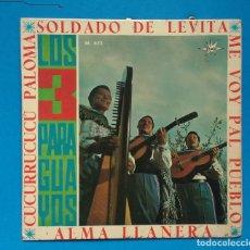Discos de vinilo: LOS 3 PARAGUAYOS / SOLDADO DE LEVITA + 3 . Lote 131011668