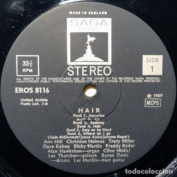 Discos de vinilo: The Graham Walker Sound ?– Hair (The American Tribal Love-Rock Musical. UK, 1969) - Foto 3 - 131015868