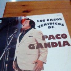 Discos de vinilo: LOS CASOS VERIDICOS DE PACO GANDIA. C2V. Lote 131016924