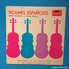 Discos de vinilo: VIOLINES ESPAÑOLES - HELMUT ZACHARIAS Y SUS VIOLINES MÁGICOS . Lote 131028772