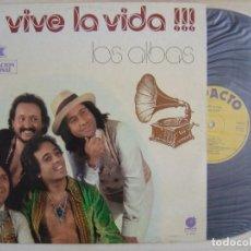 Discos de vinilo: LOS ALBAS - VIVE LA VIDA - LP 1978 - IMPACTO - SELLO PROMOCIONAL EN PORTADA. Lote 131034888