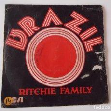 Discos de vinilo: RITCHIE FAMILY - BRAZIL. Lote 131050680