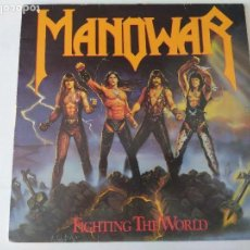 Discos de vinilo: VINILO HEAVY METAL/MANOWAR/FIGHTING THE WORLD. Lote 131051568