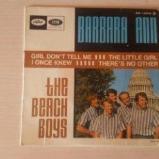 Discos de vinilo: BEACH BOYS BÁRBARA ANN EDICIÓN FRANCESA BUEN ESTADO. Lote 131069477