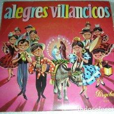 Discos de vinilo: ALEGRES VILLANCICOS - EP DISCOS PERGOLA 1968. Lote 131070060