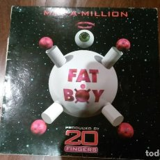 Discos de vinilo: MAX-A -MILLION-FAT BOY.MAXI ESPAÑA. Lote 131073748
