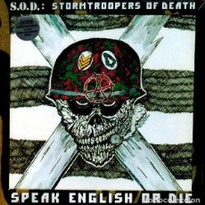 Discos de vinilo: S.O.D. – SPEAK ENGLISH OR DIE: 30TH ANNIVERSARY EDITION - 2X LP VINYL 2016 SEALED. Lote 131092144