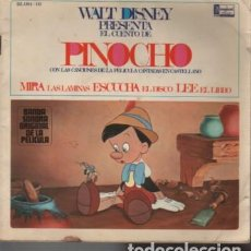 Discos de vinilo: DISCO CUENTO WALT DISNEY PINOCHO 1966 - HISPAVOX SA DE MADRID. Lote 131100948