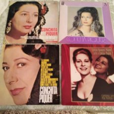 Discos de vinilo: CONCHITA PIQUER 4 DISCOS LP. Lote 131114485