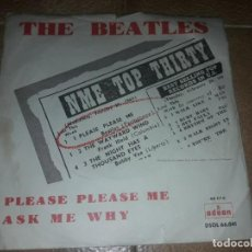 Discos de vinilo: THE BEATLES PLEASE PLEASE ME ASK ME WHY SPAIN1963 ODEON. Lote 131129288