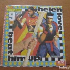 Discos de vinilo: HELEN LOVE BEAT HIM UP/ SUPER BOY SUPER GIRL DAMAGED GOOD 1995 COMO NUEVO INDIE. Lote 131129360