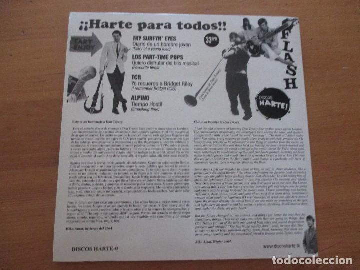 Discos de vinilo: Harte para todos Thy Surfyn´ Eyes Los Part-Time Pops TCR Alpino HARTE! 2004 COMO NUEVO - Foto 2 - 131129740