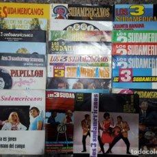 Discos de vinilo: GRAN COLECCIÓN DEL TRÍO PARAGUAYO LOS 3 SUDAMERICANOS CON UN TOTAL DE 22 SINGLE'S Y EP'S. Lote 131134332