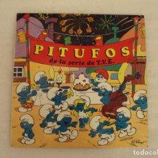 Discos de vinilo: PITUFOS DE LA SERIE DE T.V.E. LP EDICION ESPAÑOLA 1983, CARNABY DISCOS COLUMBIA.. Lote 131143036