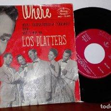 Discos de vinilo: LOS PLATTERS-EP 4 TEMAS-WHERE Y OTROS- CON BROOK BENTON-MERCURY MG 10091 DEL 1960. Lote 131166680
