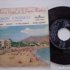 Discos de vinilo: RAMON CALDUCH CON JOSE SOLA - 2º FESTIVAL BENIDORM - EP ALHAMBRA 1960. Lote 131180464