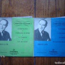 Discos de vinilo: JOSELIN - CUENTOS GALLEGOS 2 EPS. Lote 131184100