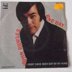 Discos de vinilo: JOHN ROWLES - ONE DAY. Lote 131195912