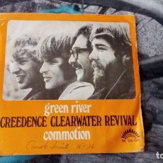 Discos de vinilo: CREEDENCE CLEARWATER-REVIVAL – GREEN RIVER / COMMOTION - AMERICA RECORDS – M-20.100 - 1969. Lote 131196768