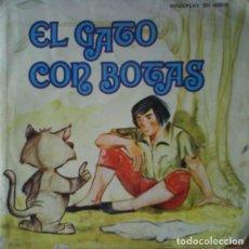 Discos de vinilo: TEATRO INFANTIL SAMANIEGO - EL GATO CON BOTAS - SINGLE MOVIEPLAY 1970. Lote 131203956