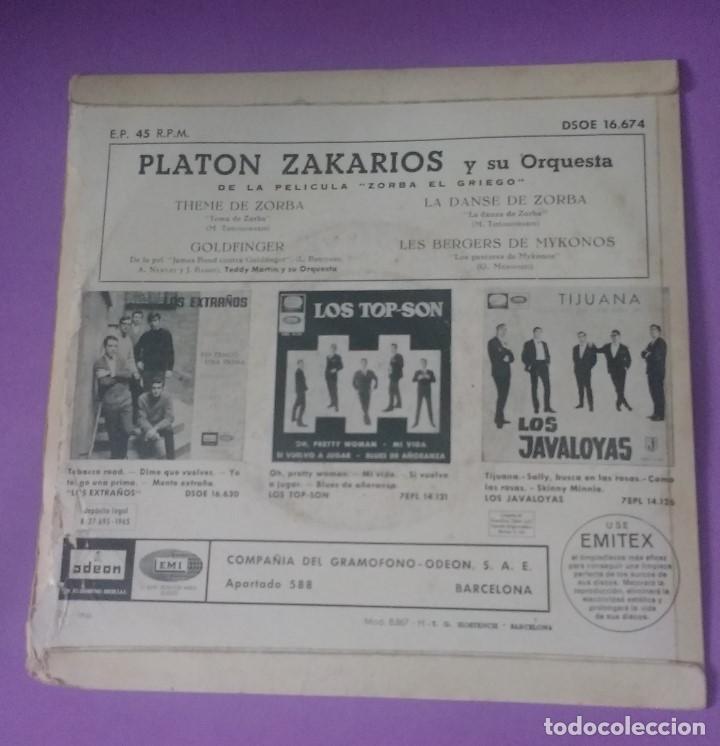 Discos de vinilo: PLATON ZAKARIOS Y ORQUESTA - ZORBA EL GRIEGO. BSO - Foto 2 - 202330930