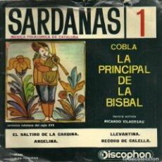 Discos de vinilo: SARDANAS 1 - COBLA LA PRINCIPAL DE LA BISBAL - DISCOPHON - 1968. Lote 131232295