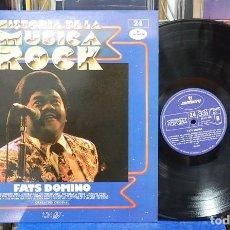 Discos de vinilo: HISTORIA DE LA MÚSICA ROCK. FATS DOMINO. ORBIS 1982. REF. 68 41 155. LP . Lote 131232783
