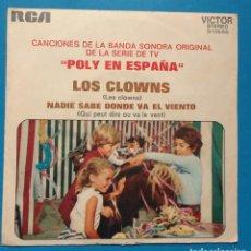 Discos de vinilo: POLY EN ESPAÑA BSO SERIE TV, LOS CLOWNS. Lote 131232807