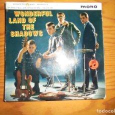 Discos de vinilo: WONDERFUL LAND OF THE SHADOWS . EP. COLUMBIA, EDIC. INGLESA. IMPECABLE. Lote 131233571