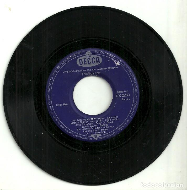 Discos de vinilo: TRITTLIGASSE - DECCA - Foto 3 - 131236955