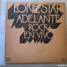 Discos de vinilo: LONE STAR LP ADELANTE ROCK EN VIVO 1973 EKIPO. Lote 131248287