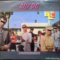 Discos de vinilo: AC-DC (ACDC). DIRTY DEEDS DONE DIRT CHEAP. 1976 HISPAVOX, SPAIN S 90.274 (LP DE 1980 + ENCARTE). Lote 131278971