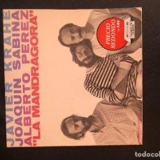 Discos de vinilo: JAVIER KRAHE, JOAQUÍN SABINA, ALBERTO PÉREZ – LA MANDRÁGORA SELLO: CBS – S 85426 FORMATO: LP 1981. Lote 131283135