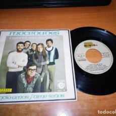Discos de vinilo: MOCEDADES ADDIO AMOR / DIME SEÑOR FESTIVAL DE SAN REMO 1973 SINGLE DE VINILO CANTADO EN ITALIANO. Lote 131285995