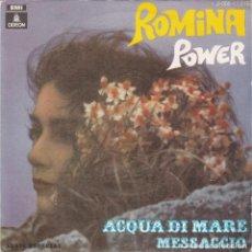 Disques de vinyle: ROMINA POWER,ACQUA DI MARE DEL 69. Lote 131292347
