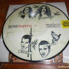 Discos de vinilo: BOSE PAPITO DOBLE LP VINILO PICTURE DISC NUMERADO 061/500 2 LP ALASKA DAVID SUMMERS SHAKIRA MUY RARO. Lote 131294247