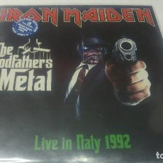 Discos de vinilo: IRON MAIDEN - GODGATHERS OF METAL -LIVE IN ITALY 1992 - 2 LPS. Lote 131319294