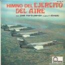 Discos de vinilo: HIMNO DEL EJERCITO DEL AIRE (SINGLE). Lote 131319574