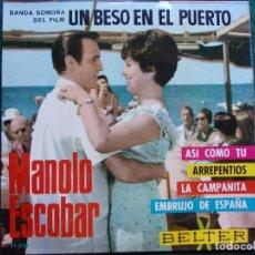 Discos de vinilo: SINGEL MANOLO ESCOBAR. Lote 131319638
