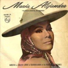 Discos de vinilo: MARIA ALEJANDRA - LA FOLKLORISTA DE MEXICO - ADELITA / CIELITO LINDO ... - PHILIPS - 1967. Lote 131337990