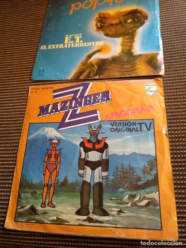 SINGLE MAZINGER Z 1978 Y E.T.EL EXTRATERRESTRE 1982 (Musik - Vinyl-Schallplatten - Singles - Kindermusik)